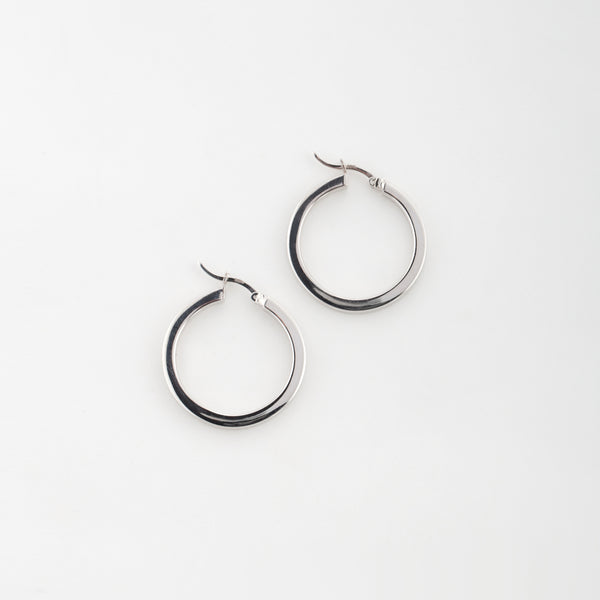 Donna Hoops in Sterling Silver