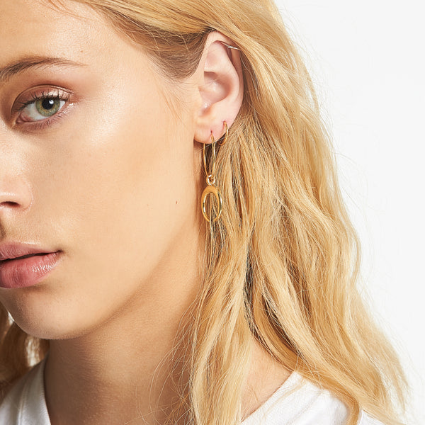 Moon Child Hoops in 14k Gold Vermeil