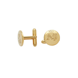 Classic Custom Cufflinks in 14k Gold Vermeil