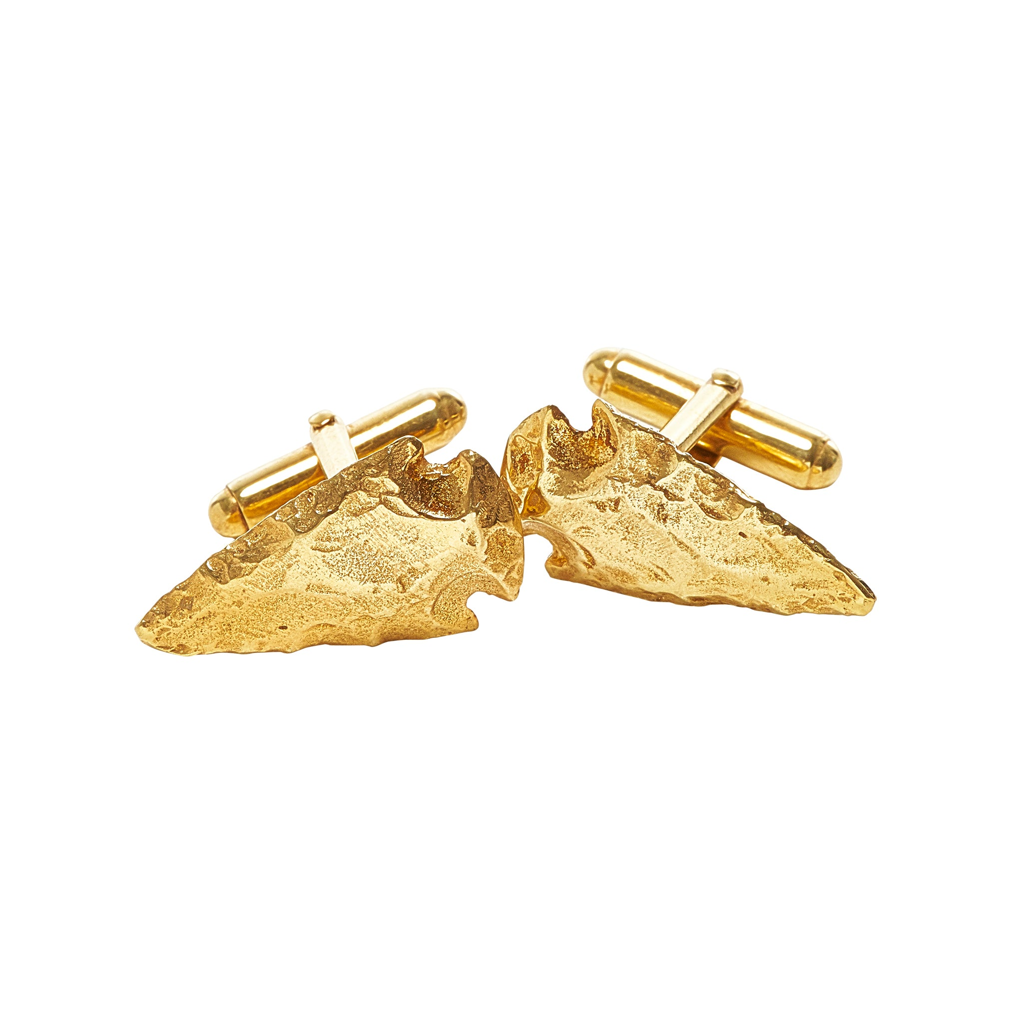 14k Gold Vermeil Spearhead Cufflinks