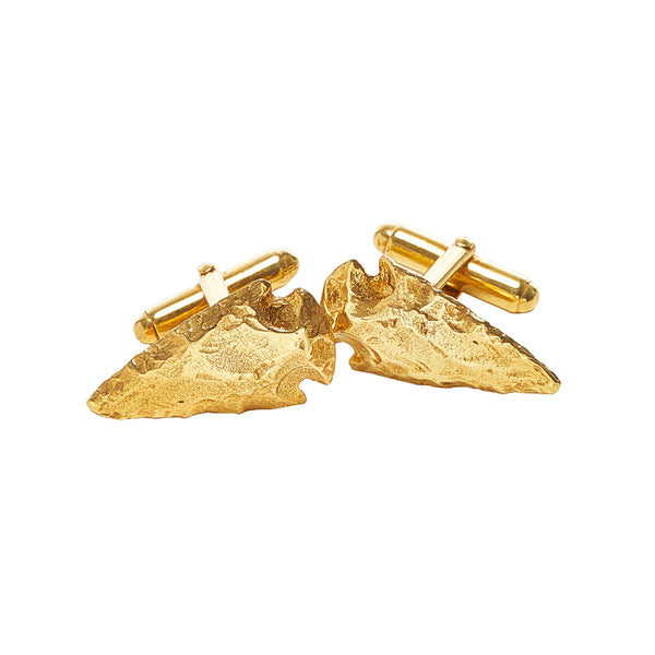 Spearhead Cufflinks in 14k Gold Vermeil