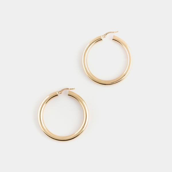 Joan Hoops in Gold size Large