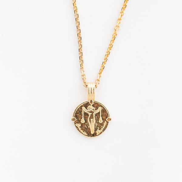 Libra Necklace in Gold