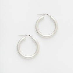 Joan Hoops in Silver Size Medium