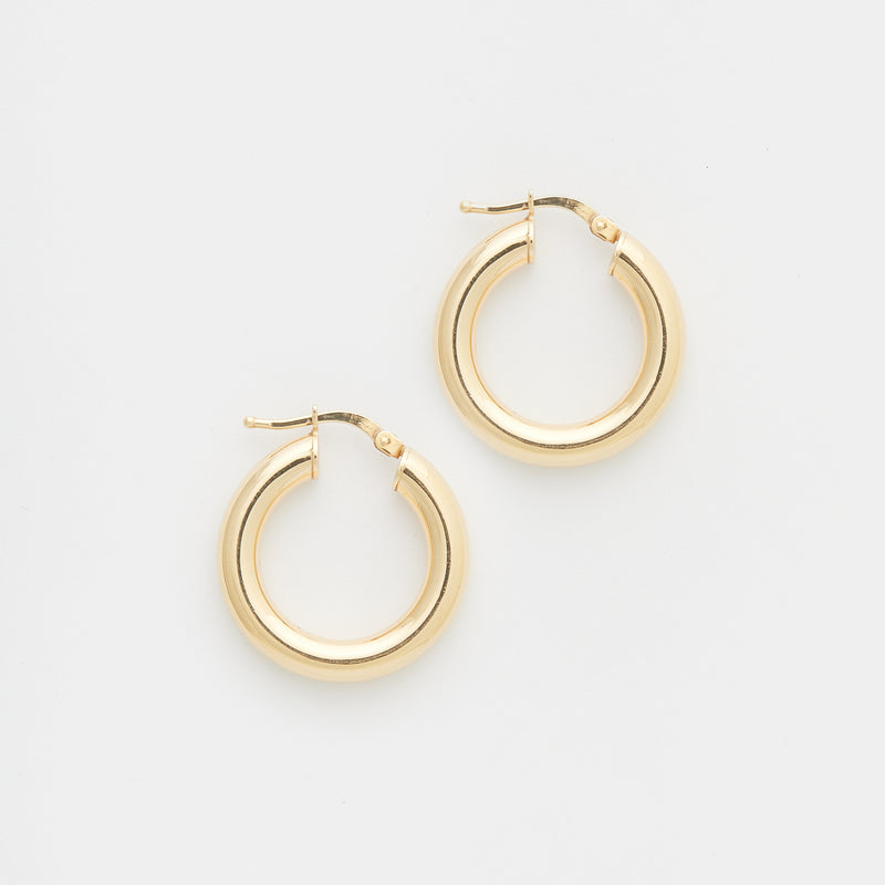 Joan Hoops in Gold size Small