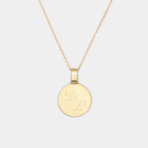 Joan Initial Medallion in Gold For Her
