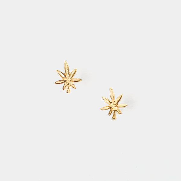 Mary Jane Studs in Gold