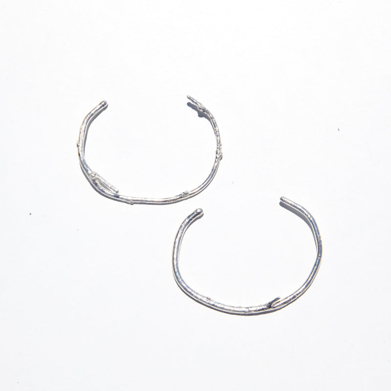 Branch Cuffs in Sterling Silver