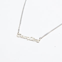 Boyfriend Nameplate Necklace in Silver