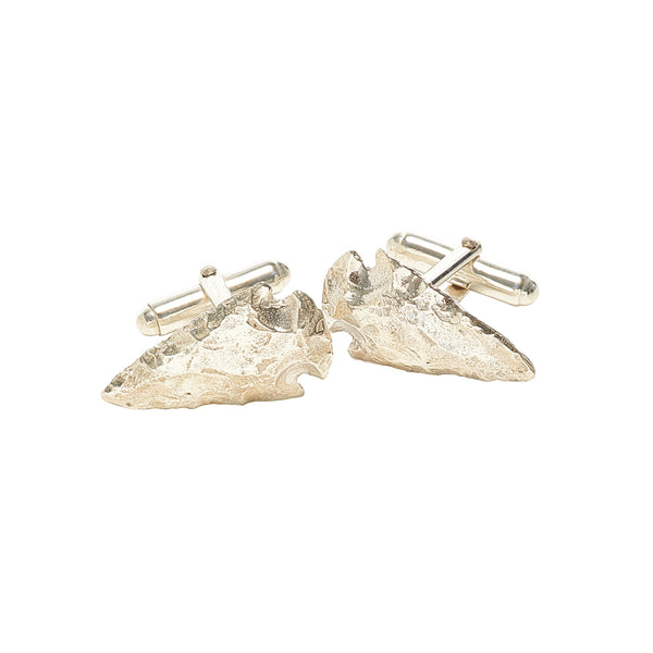 Sterling Silver Spearhead Cufflinks