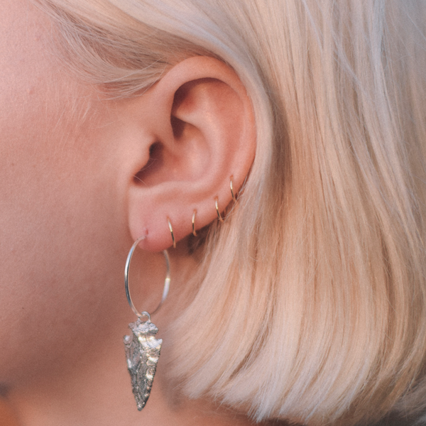 Tiny Solid Gold Hoops