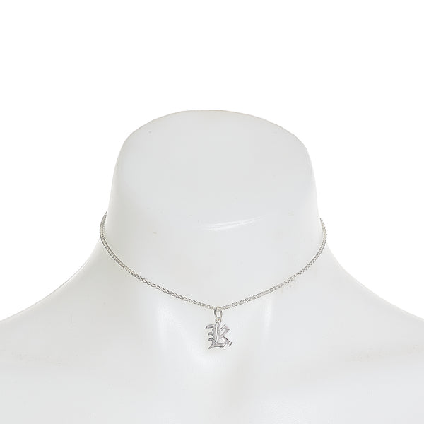 Mia Gothic Charm Choker in Sterling Silver