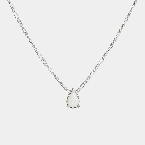 Léa Opal Teardrop Necklace