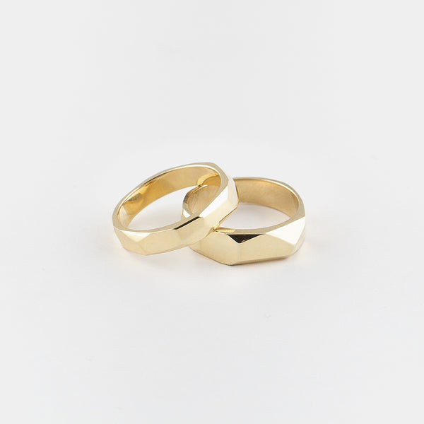 Wild Stack Rings in Gold