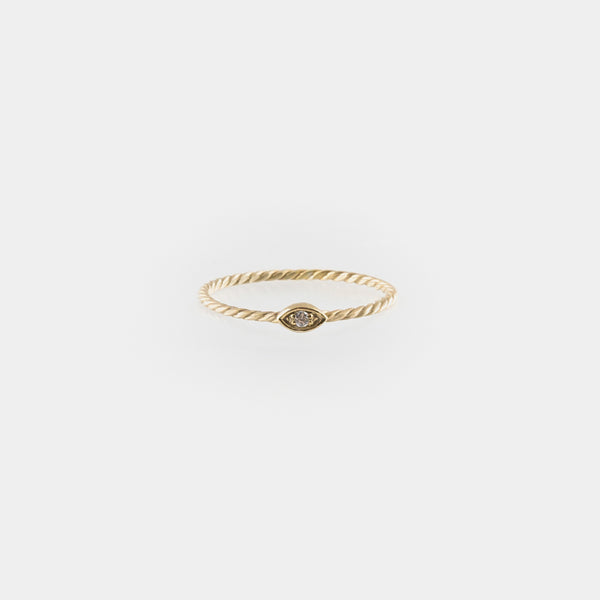 Eye of Horus Braided Ring