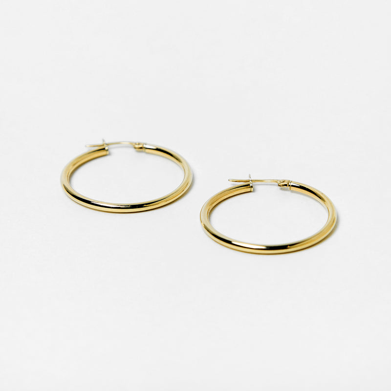 Andrea Hoops in 10k Gold
