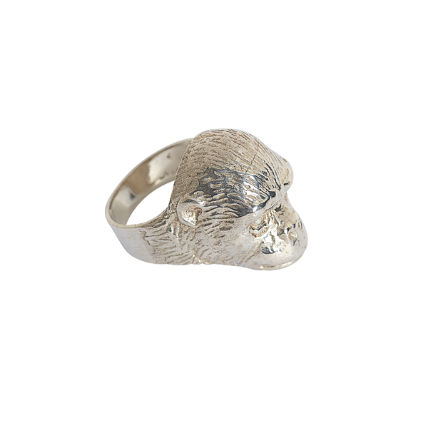 Sterling Silver Gorilla Ring