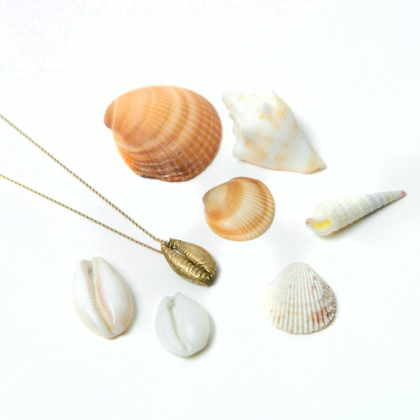 Sandy Shell Necklace in Gold