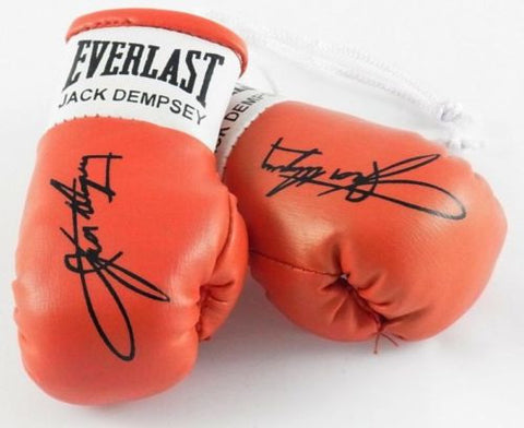 Jack Dempsey Autographed Mini Boxing gloves (collectable) Gift Xmas