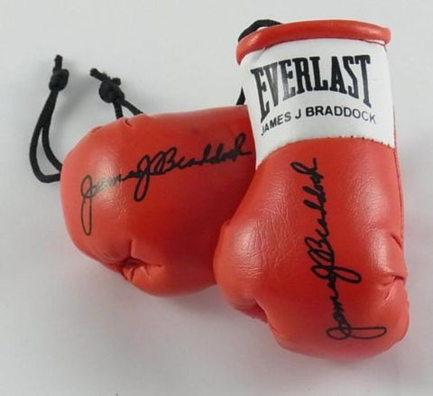 James Braddock Autographed Mini Boxing gloves (collectable)
