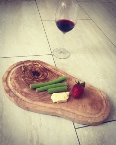 Solid Olive Wood Serving Board. Perfect Cheese Board AMAZING Quality Super Heavy
