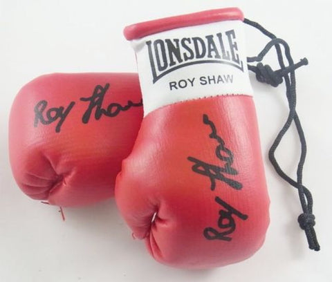 Roy Shaw Autographed Mini Boxing gloves (collectable)