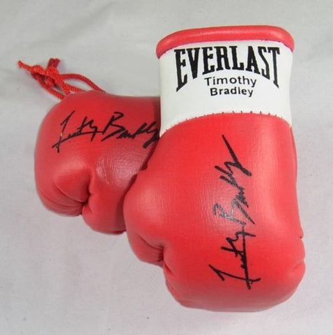 Timothy Bradley Autographed Mini Boxing gloves (collectable) Gift Xmas