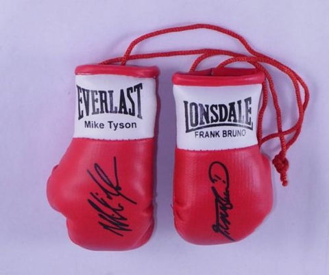 Mike Tyson Vs Frank Bruno Autographed Mini Boxing gloves (collectable)