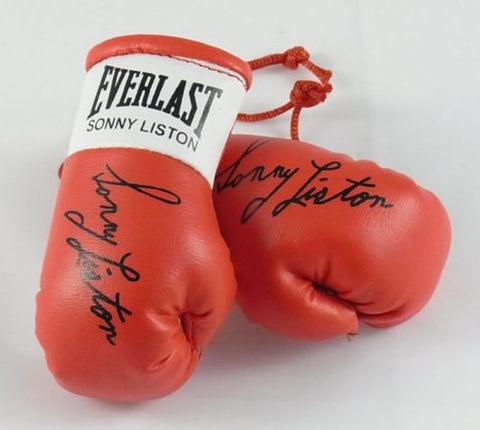 Sonny Liston Autographed Mini Boxing gloves (collectable) Xmas Gift Birthday