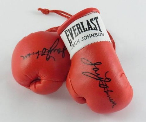 Jack Johnson Autographed Mini Boxing gloves (collectable) Gift Birthday Xmas