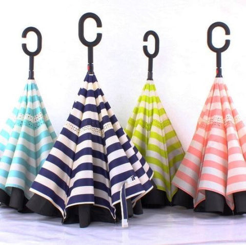 Reverse  Windproof Umbrella Inverted Candy Colours UK SELLER! Wholesale. Lot X5