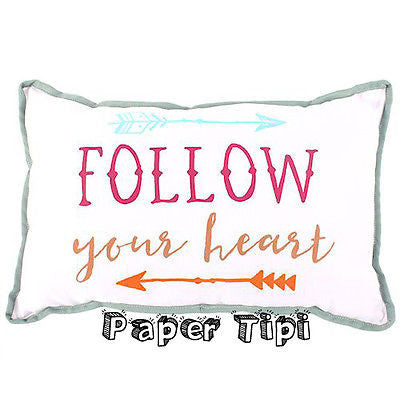 Follow your heart cushion, adorable perfect for the bed