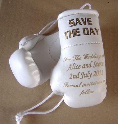 wedding invite mini boxing gloves save the date unique idea 40 Gloves 40 Invites