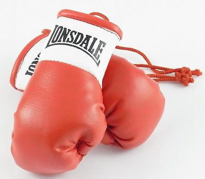 Lonsdale Red Mini Boxing Gloves for Autograph Hunters