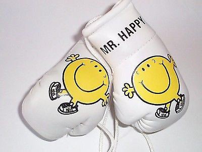 Mr. Men Series MinI Boxing Gloves (ideal for hanging a pushchair / Buggy)