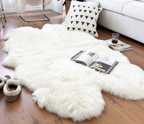 Luxury Ivory quad  sheepskin rug