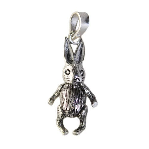 Sterling silver bunny rabbit pendant with moving parts