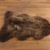 Genuine Chocolate sheepskin rug single Rare eco pelt Fur