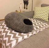100% natural wool cat cave bed