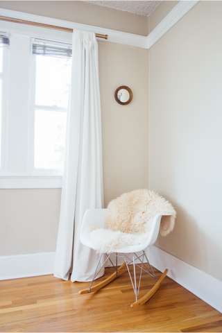 Genuine Ivory cream Eco sheepskin rug eco pelt