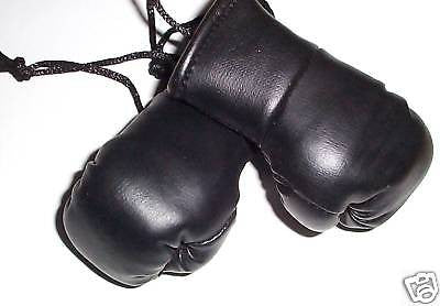 Jet Black Mini Boxing Gloves.also in white,pink,blue,grey and Silver