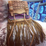 Beautiful Italian boho tassel bag
