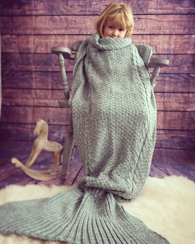 Luxury Knitted Mermaid Blanket Tail  Crochet Christmas Gift Uk Seller Adult