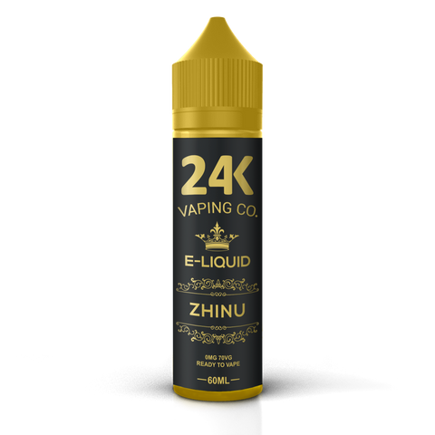 24K E-Liquid 60ml - Zhinu (Dragonfruit, Peach & Assorted Berries)