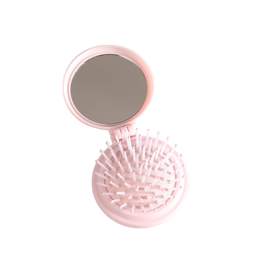 Rosé Compact Mirror Brush