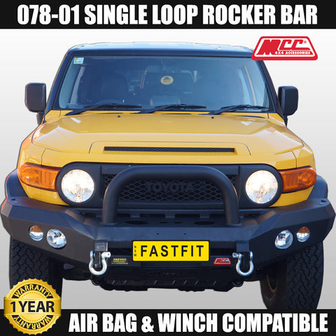 MCC4x4 078-01 Single Loop Rocker Front Bar To Suit Totoya FJ Cruiser -  2007 ON