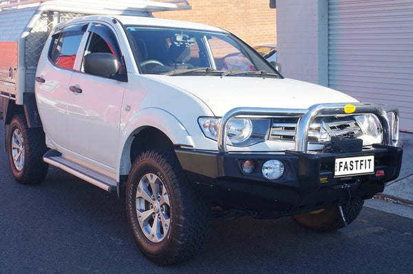 MCC 707-01 Stainless Triple Loop Falcon Bull Bar to suit Mitsubishi Triton MN 08/2009-08/2015