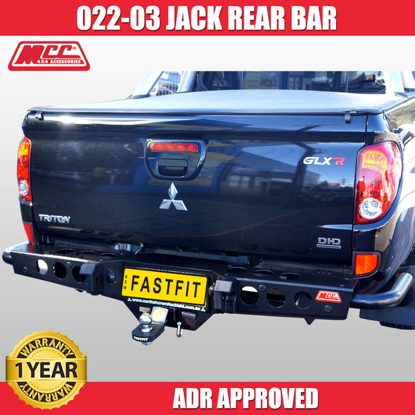 MCC4X4 022-03 Rear Jack Bar to Suit Mitsubishi Triton MN 10/2009-ON