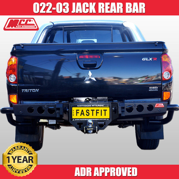 MCC 022-03 Jack Rear Bar to suit Mitsubishi Triton MN 08/2009-08/2015
