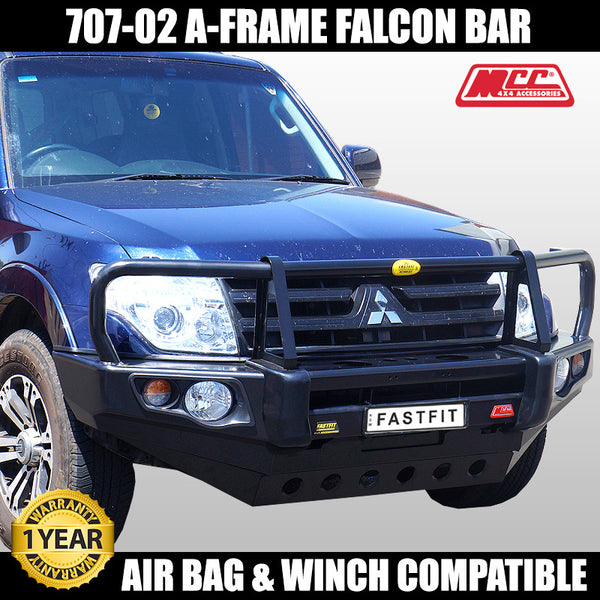 MCC 707-02 A-FRAME Falcon Bull Bar to suit Mitsubishi Pajero NS-NW 11/2006-ON